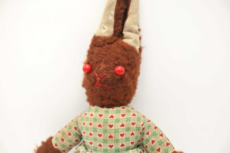 ライプツィヒVintage ユニークな茶色いウサギのぬいぐるみ