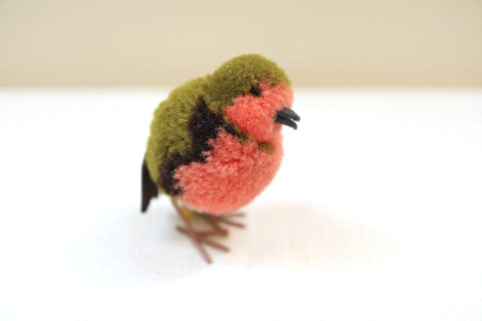 レトロSteiffポンポンシリーズ ウールでできたキュートな小鳥
