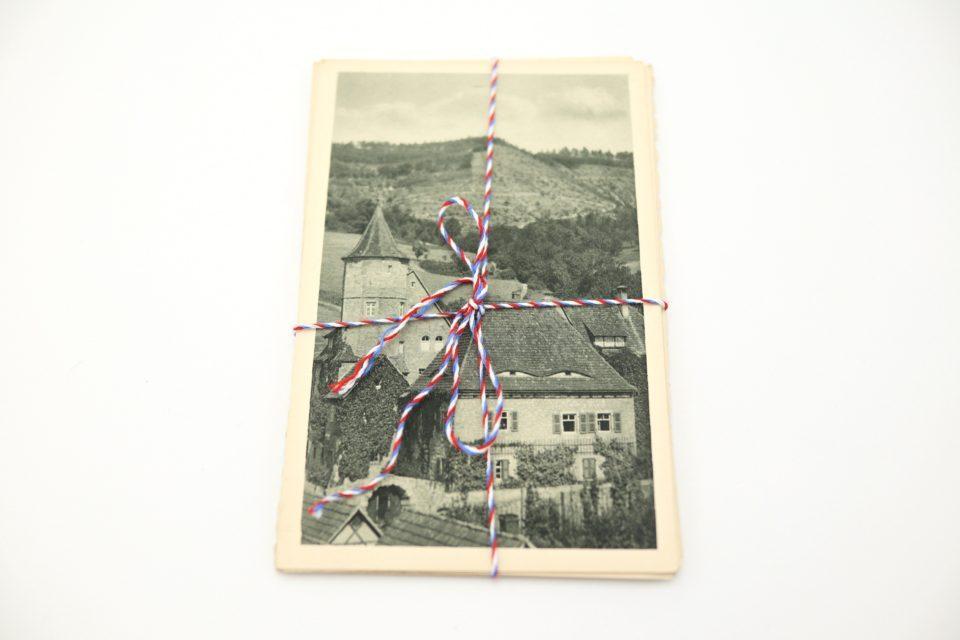 セピア色の風景写真 アンティークポストカードセット(9枚)